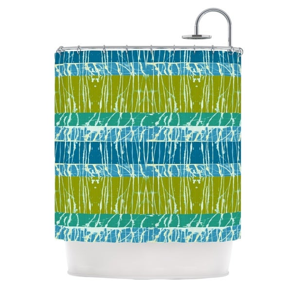 KESS InHouse Nina May Ocean Splatter Blue Teal Shower Curtain (69x70)