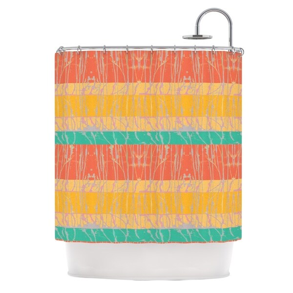 KESS InHouse Nina May Desert Splatter Orange Gold Shower Curtain 69x70