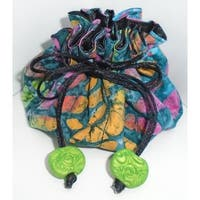 Luggage Spotter Turquoise/ Pink/ Lime Multicolor Travel Jewelry Pouch Bag