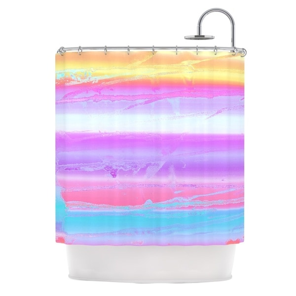 KESS InHouse Nina May Drip Dye Warm Purple Orange Shower Curtain (69x70)