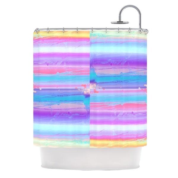 KESS InHouse Nina May Drip Dye Paint Pastel Shower Curtain (69x70)