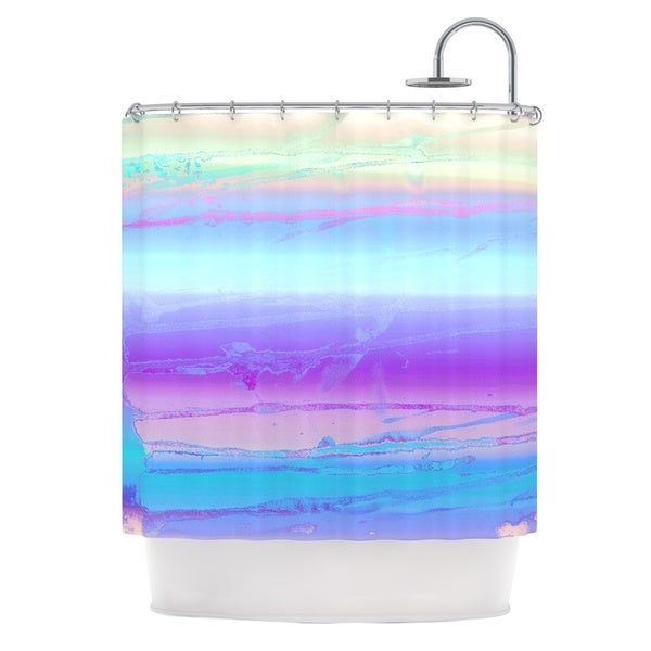 KESS InHouse Nina May Drip Dye Cool Pastel Blue Shower Curtain (69x70)