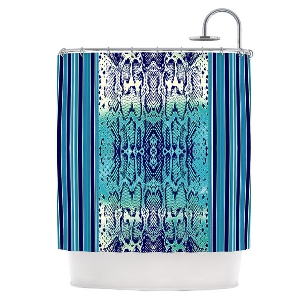 KESS InHouse Nina May Aqua Snake Blue Teal Shower Curtain (69x70)