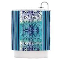 KESS InHouse Nina May Aqua Snake Blue Teal Shower Curtain (69x70)