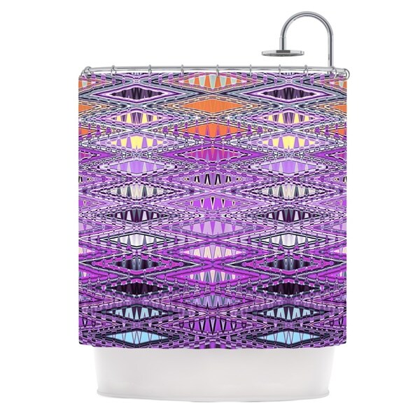 KESS InHouse Nina May Orche Kilim Pink Shower Curtain (69x70)