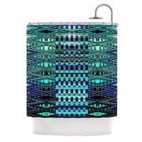 KESS InHouse Nina May New Kilim Seafoam Teal Shower Curtain (69x70)