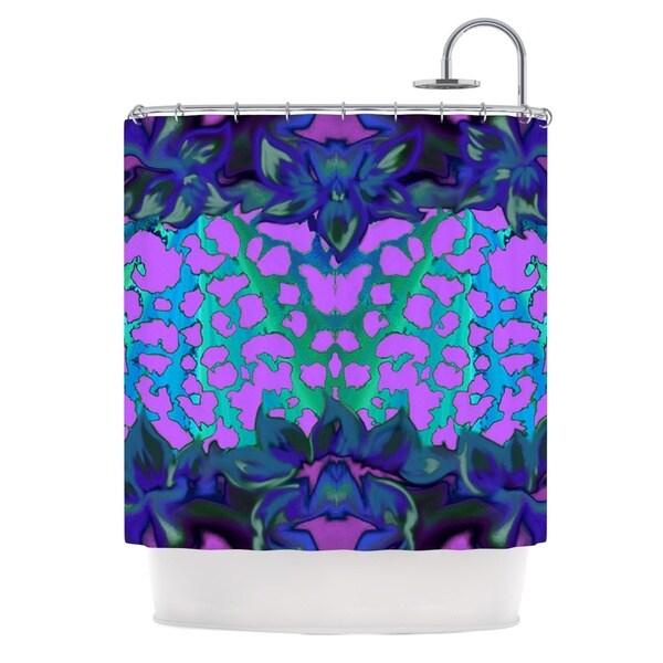 KESS InHouse Nina May Cerruda Blue Orchid Purple Teal Shower Curtain (69x70)