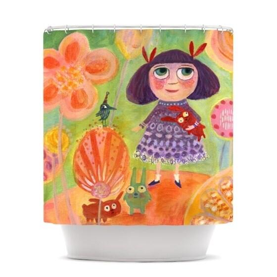 KESS InHouse Marianna Tankelevich Flowerland Shower Curtain (69x70)