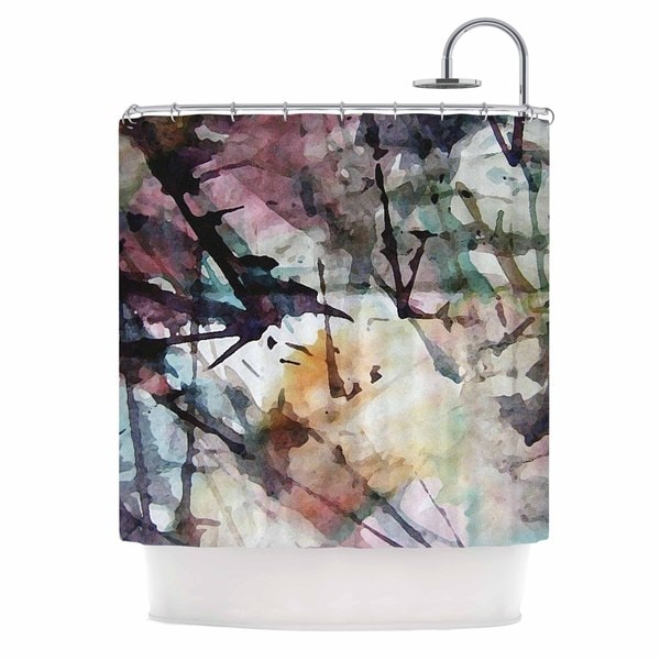 KESS InHouse Malia Shields Abstract Trees Abstract Painting Shower Curtain (69x70)