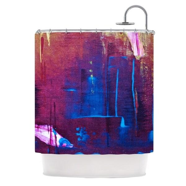 KESS InHouse Malia Shields Cityscape Abstracts Purple Blue Shower Curtain (69x70)