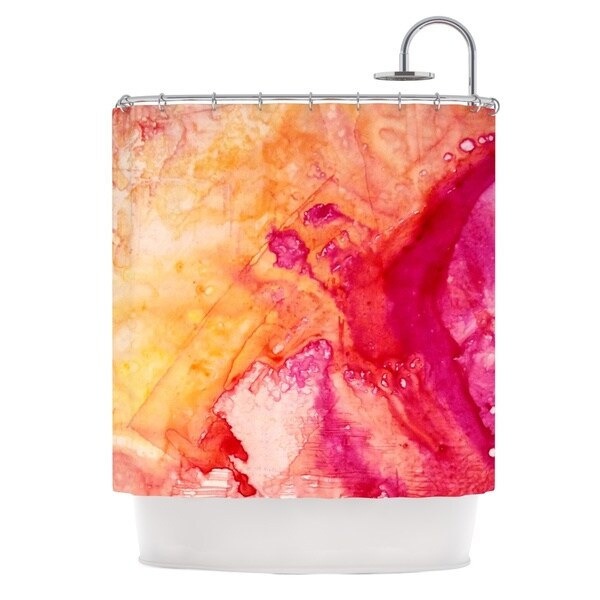 KESS InHouse Malia Shields Color River IV Orange Pink Shower Curtain (69x70)