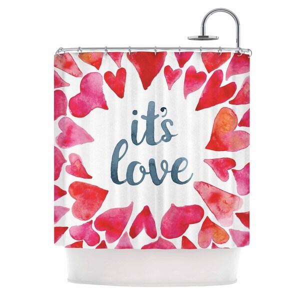 KESS InHouse KESS Original It's Love Red Pink Shower Curtain (69x70)