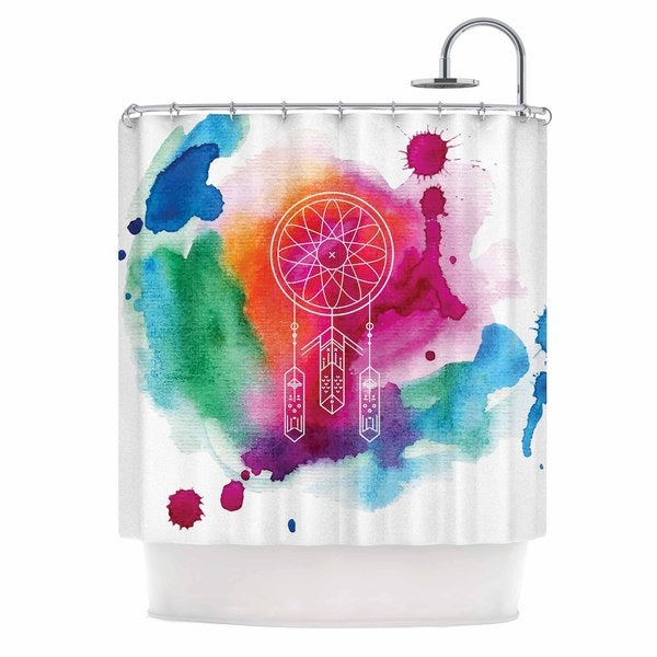 KESS InHouse KESS Original Dream In Color Rainbow Watercolor Shower Curtain (69x70)