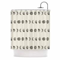 KESS InHouse KESS Original Phases Of The Moon Beige Gray Shower Curtain (69x70)