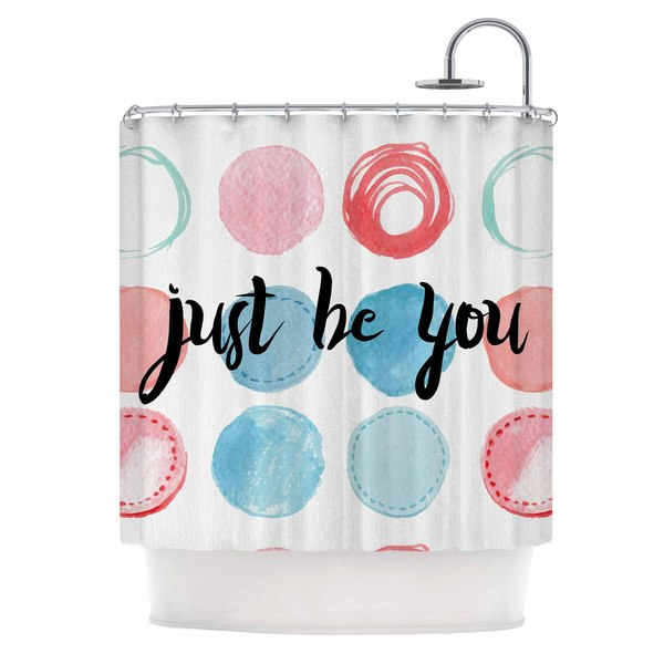 KESS InHouse KESS Original Just Be You Blue Pink Shower Curtain (69x70)