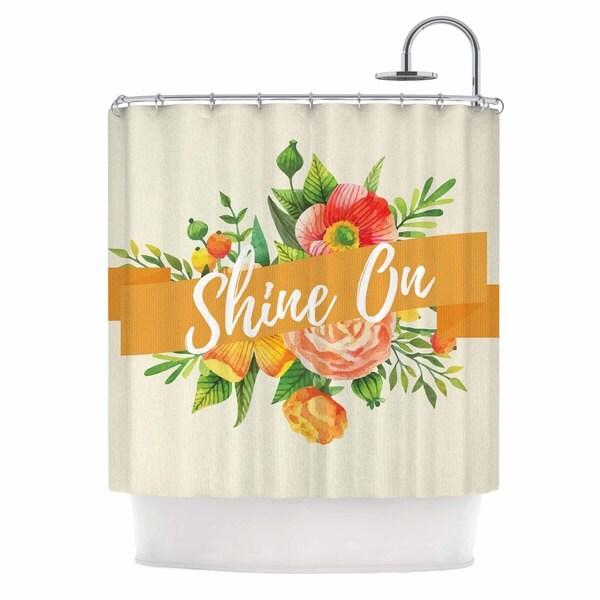 KESS InHouse KESS Original Shine On Beige Orange Shower Curtain (69x70)