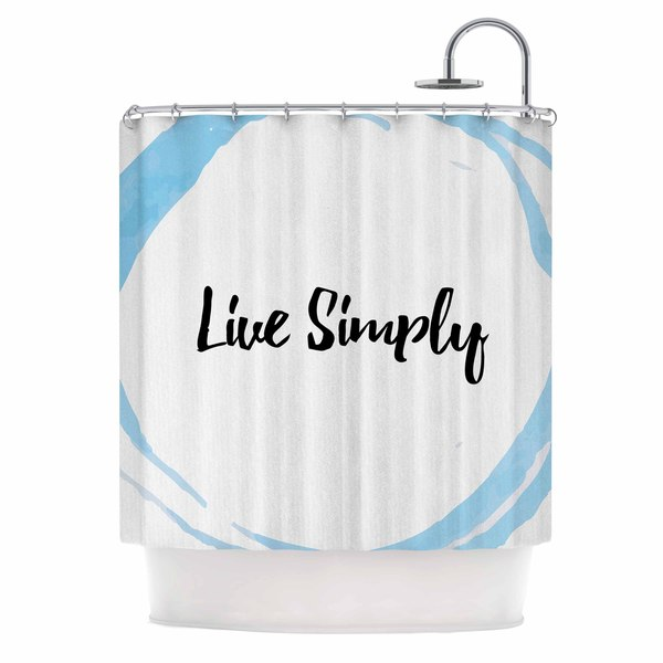KESS InHouse KESS Original Live Simply Blue White Shower Curtain (69x70)