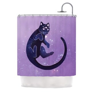 KESS InHouse KESS Original Cosmic Kitten Celestial Animal Shower Curtain (69x70)