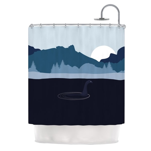 KESS InHouse KESS Original Swimming with Nessie Blue Fantasy Shower Curtain (69x70)