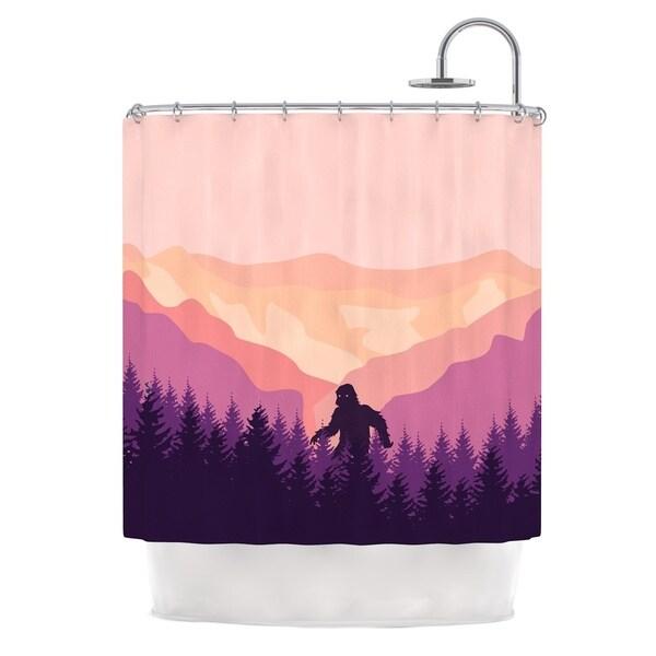 KESS InHouse KESS Original Big Foot Pink Purple Shower Curtain (69x70)