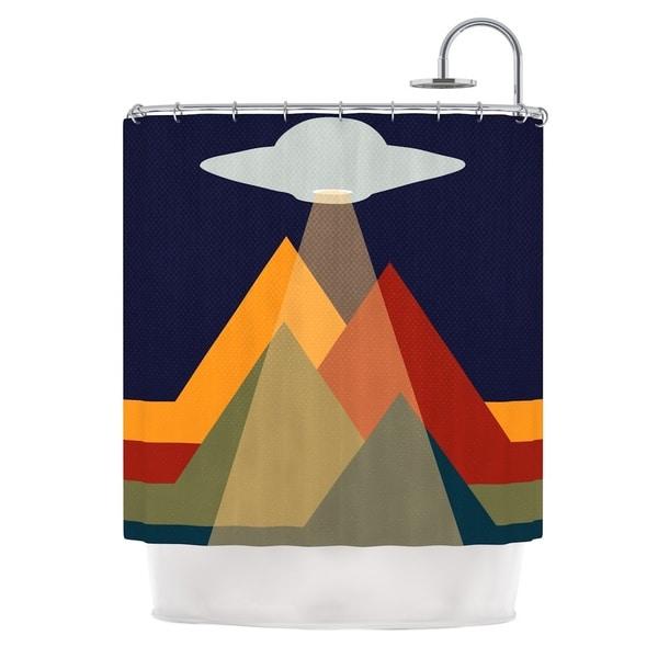 KESS InHouse KESS Original Abduct Me Geometric Fantasy Shower Curtain (69x70)