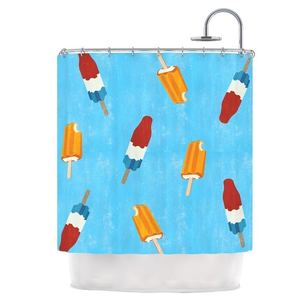 KESS InHouse KESS Original Feels like Summer Orange Food Shower Curtain (69x70)