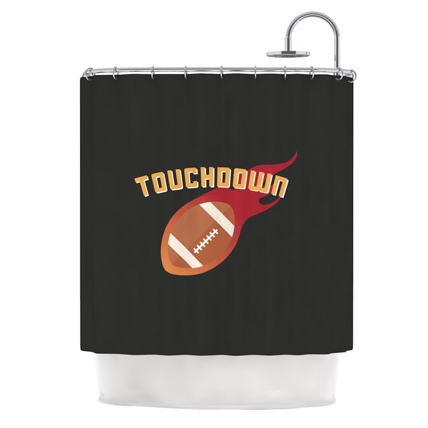 KESS InHouse KESS Original Touchdown XLVI Sports Football Shower Curtain (69x70)