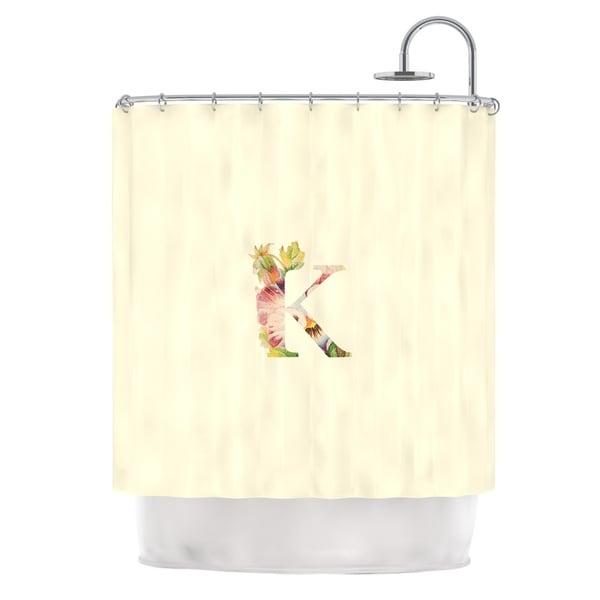 "KESS InHouse KESS Original ""Floral Monogram"" Shower Curtain (69x70) - 69 x 70"