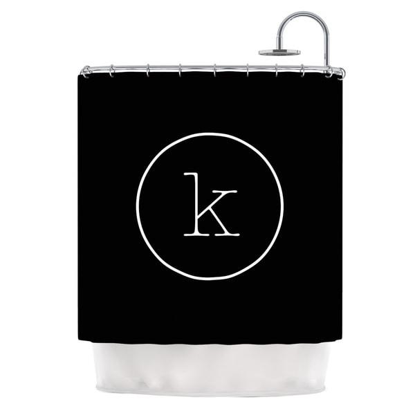 KESS InHouse KESS Original Simple Black Monogram Shower Curtain (69x70)