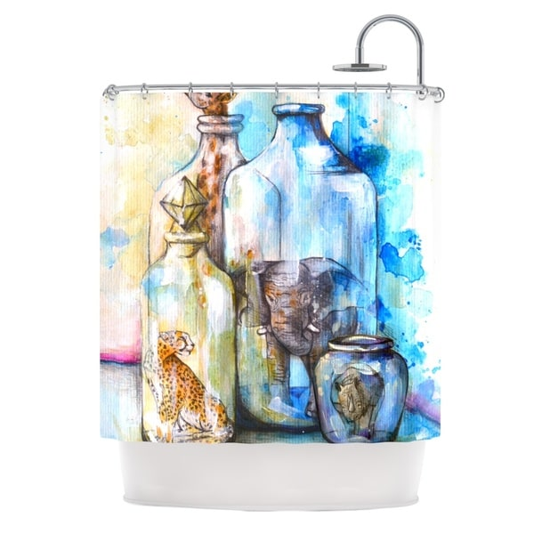 KESS InHouse Kira Crees Bottled Animals Shower Curtain (69x70)