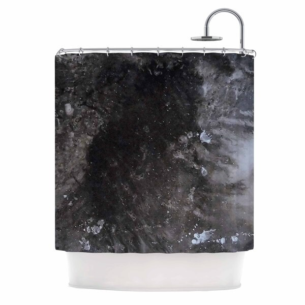 KESS InHouse Abstract Anarchy Design Crepuscular Nebula Gray Black Shower Curtain (69x70)
