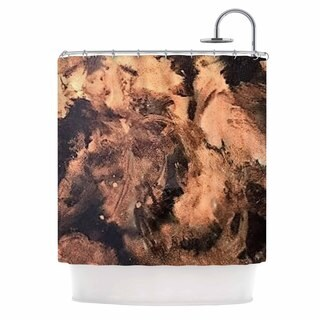 KESS InHouse Abstract Anarchy Design King Midas Brown Abstract Shower Curtain (69x70)