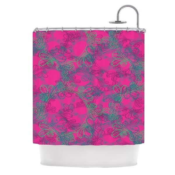 KESS InHouse Patternmuse Jaipur Hot Pink Pink Teal Shower Curtain (69x70)