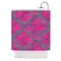 KESS InHouse Patternmuse Jaipur Hot Pink Pink Teal Shower Curtain (69x70)
