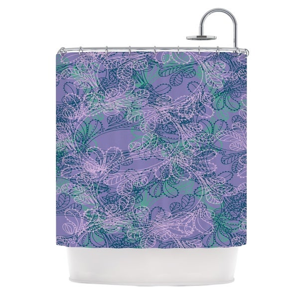KESS InHouse Patternmuse Jaipur Juniper Blue Lavender Shower Curtain (69x70)