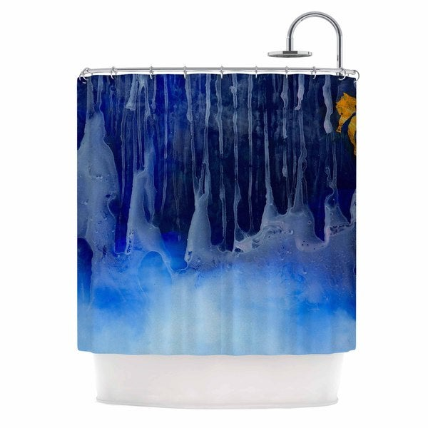 KESS InHouse Josh Serafin You And Me Blue Orange Shower Curtain (69x70)