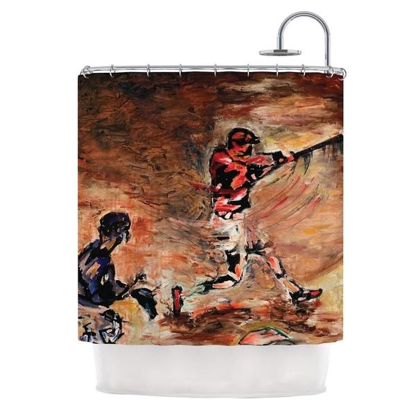 KESS InHouse Josh Serafin It's Gone! Brown Red Shower Curtain (69x70)
