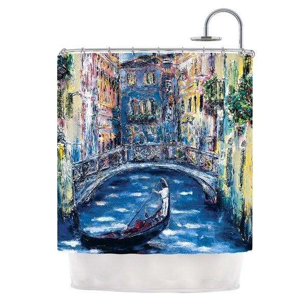 KESS InHouse Josh Serafin Venice Travel Italy Shower Curtain (69x70)