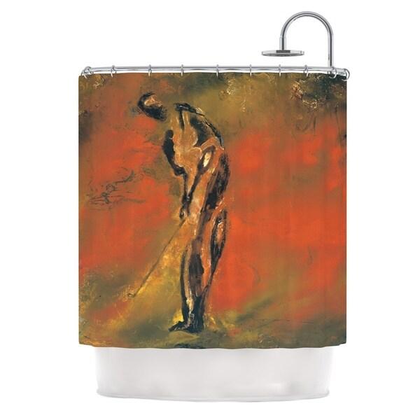 KESS InHouse Josh Serafin Chip Golf Player Shower Curtain (69x70)