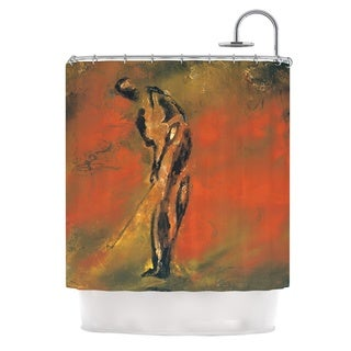 KESS InHouse Josh Serafin Chip Golf Player Shower Curtain (69x70)