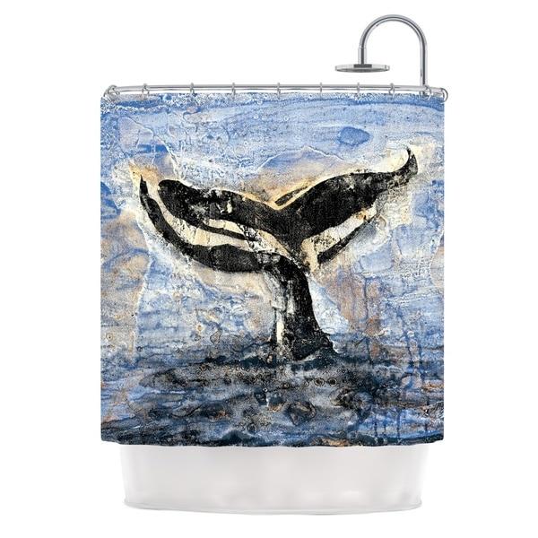 KESS InHouse Josh Serafin Whale Tail Coastal Painting Shower Curtain (69x70)