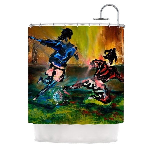 KESS InHouse Josh Serafin Slidetackle Soccer Shower Curtain (69x70)