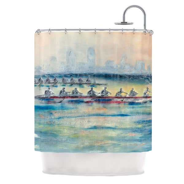 KESS InHouse Josh Serafin Crew Rowing Shower Curtain (69x70)