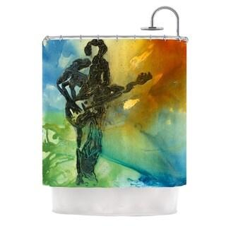 KESS InHouse Josh Serafin Rhythm Guitar Player Shower Curtain (69x70)