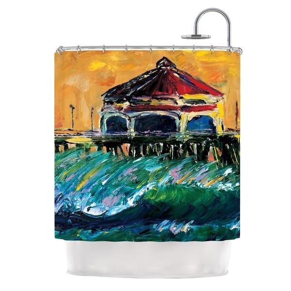 KESS InHouse Josh Serafin Offshore Beauty Multicolor Coastal Shower Curtain (69x70)