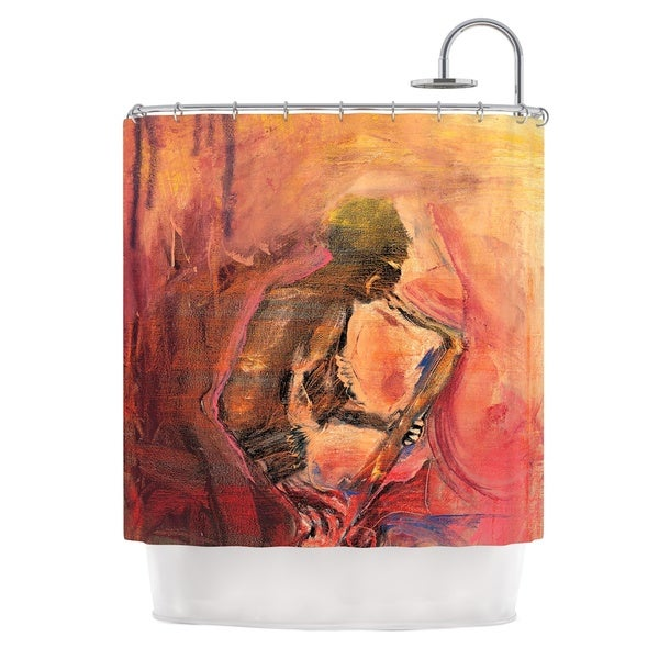 KESS InHouse Josh Serafin Catch the Wind Orange Red Shower Curtain (69x70)