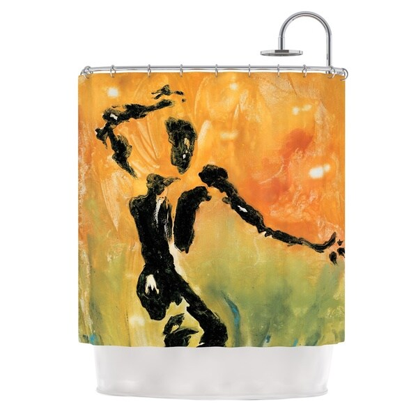 KESS InHouse Josh Serafin Hangin' 5 Orange Yellow Shower Curtain (69x70)