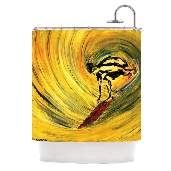 KESS InHouse Josh Serafin Suppose Yellow Black Shower Curtain (69x70)
