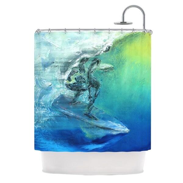 KESS InHouse Josh Serafin September High Blue Green Shower Curtain (69x70)