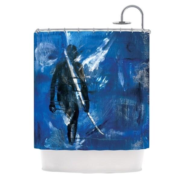 KESS InHouse Josh Serafin Release Blue Black Shower Curtain (69x70)